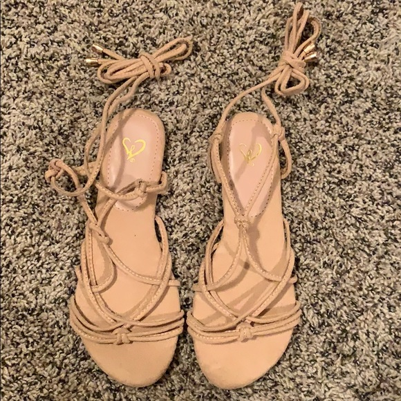 Windsor Shoes - WINDSOR || Lace-Up Nude Sandals